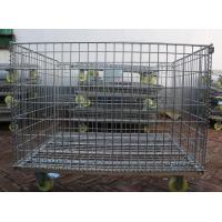 China Wire Mesh Container with Wheel,Removable Mesh Container,5.0-7.0mm,5x10cm wholesale