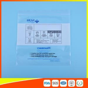 China Transparent Airtight Ziplock Plastic Bag For Medicine Tablet Custom Printed wholesale