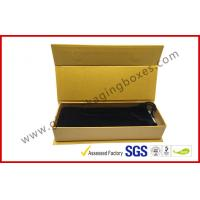 China ROSH Empty Jewelry Gift Boxes Golden Color With Velvet Bag , Hot Stamp Finishing wholesale