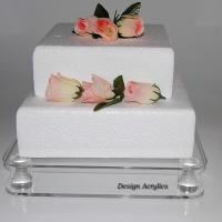 China Transparent Acrylic Bakery Display Case Simple Design 5mm Thick Cake Display Stand wholesale