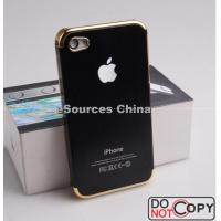 China Durable Metal + Gold Frame Aluminum Waterproof Cell Phone Cases For IPhone4 / 4G / 4S wholesale