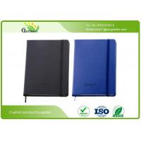 China Delicate PU Leather Cover Custom Embossed Notebook with Pens Elastic Band wholesale