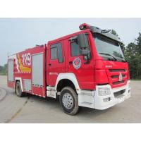 China Howo 8T Foam Fire Truck , Water Tank Firefighting Apparatus 6 Wheel 290hp on sale