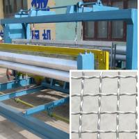 China Stainess Steel Wire Crimped Wire Mesh Machine 30-40 Times / Min Speed wholesale