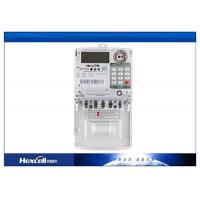 Quality IP54 Prepaid Energy Meter Using Smart Card , Single Phase Watt Hour Meter for sale