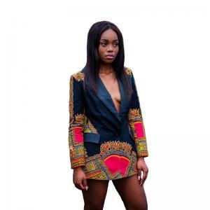 China Africa Printed Dashiki Jacket Lady Fashion African Ladies Jackets Traditional Batik Prining wholesale
