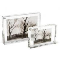 China Crystal Picture Clear Acrylic Frames With Beautiful Shape wholesale
