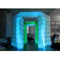 China 2 Doors Inflatable Photo Booth Kiosk Diamond Shape With Air Blower wholesale