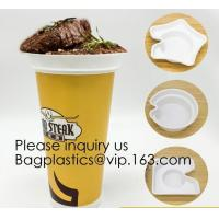 China Flower Shaped 330ml PP Plastic Snack Plate With Cup Holder,Disposable PS Plastic Cup Top Snack Tray,Snack Cup With Straw wholesale