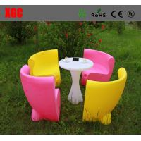 China Fireproof Plastic Outdoor Furniture Single Light Weight Chairs With Rechargeable Batteries wholesale