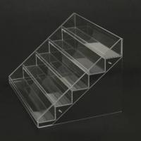 China acrylic cosmetic display stands/transparent acrylic nail polish displays rack wholesale