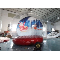 China 4M 5M Inflatable Bouncing Snow Globe Photo Booth With Blower wholesale