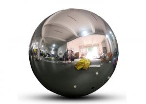 China Customized PVC Festival Decoration Inflatable Hanging Mirror Ball/Foil Balloon,Silver Reflective Helium Sphere wholesale