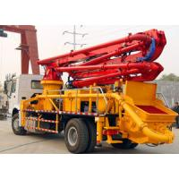 China Boom Concrete Mixer Pump Truck Mounted Large Output Wireless Remote Control wholesale