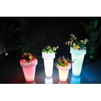 China Bar Furniture Pe Material Plant Pots With Led Light wholesale