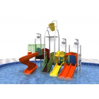 China Pvc Coating Plastic 114mm Kids Water Play Equipment Adjustable Size on sale