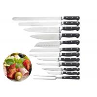 China Cooking Stainless Steel Knife Set ABS Smithing Shank With Triple Rivets on sale