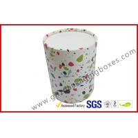 China round cosmetic paper packaging boxes customized CMYK paper tube box with lid and base wholesale