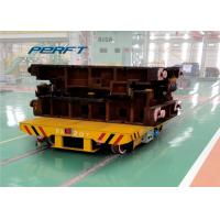 China scissor hydraulic lifting rail transfer cart with battery powered wholesale