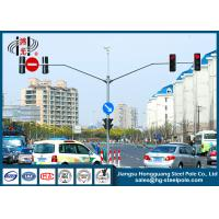 China S355J2G3 Red Green Automated Traffic Light Pole ,  Traffic Sign Pole on sale