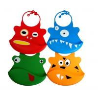 China Silicone baby bibs With a built in crumb catcher and adjustable clasp wholesale