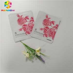 China Plastic Cosmetic Packaging Bagsample Sachet Facial Mask Three Sides Seal Bag wholesale