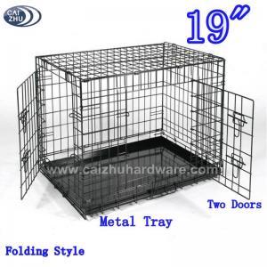 """China 19"""" Two Doors Folding Dog Crates wholesale"""