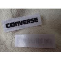 China Converse 3D Silicone Logo Patches Black Soft For Clothing Neck Label wholesale