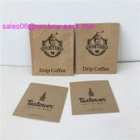 China PE Coated Ziplock Packing Bags Paper Sachet Pouch Customized Size Kraft Bags For Coffee / Tea / Snack wholesale