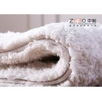China White Color Hotel Floor Towels 100% Cotton Non Skid With Embossed Logo wholesale