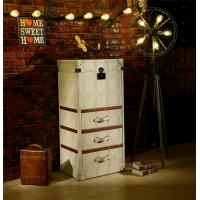 Buy cheap Retro Vintage Leather Storage Steamer Trunk With Drawer Chest Full Handcrafted from wholesalers
