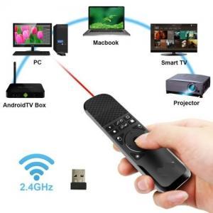 China Silver Wireless Air Mouse Presenter , PPT Remote Clicker For Multi Media wholesale