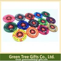 China Two-tone Printing Poker Chips hot stamping gold front number pokerchip abs chips wholesale