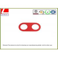 China high precision machining parts made of aluminum with red anodization. wholesale