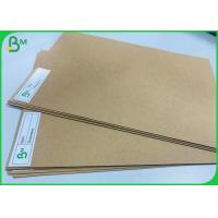 China 200g - 400g Unbleached Kraft Board Natural Brown Craft Street Food Package Paper wholesale