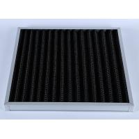 China High Efficiency G4 V Bank Z-line Panel Air Filter , Activated Carbon Media wholesale