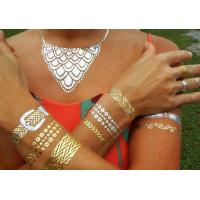 China Female Decorative Jewelry Flash Tattoo Metallic Gold Waterproof Eco - Friendly wholesale