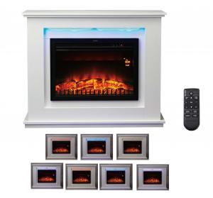 "China Electric Fireplace EF461lb-e insert Firebox 23"" Stove log burning Flame remote control mantel chimenea room heater wholesale"