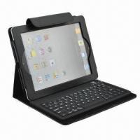 China Case for New iPad with Keyboard, Customized Designs are Welcome, 100pcs MOQ wholesale