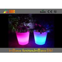 China Led Illuminated Flower Pots Lighting Furniture With Remote Control Battery wholesale