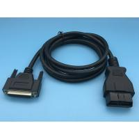 China Black Extension OBD2 Connector Cable , 26AWG OBD2 Diagnostic Cable wholesale