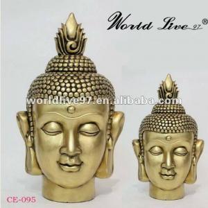 China China supplying Resin buddha head Golden Buddha statue on sale