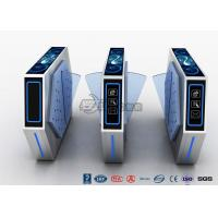 China Fast Lane Turnstile Barrier Gate Flap Barrier With Anti - Reversing Passing wholesale