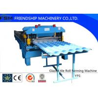 China Corrugated Glazed Tile Roll Forming Machine For Modern Architecture Roofing on sale