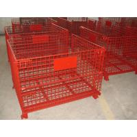 China High Strength Industrial Metal Pallet Cages Warehousing / Component Storage wholesale
