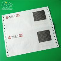 China 3 Ply Pin Mailer Paper , Good Image Carbonless Printer Paper High Surface Smoothness wholesale