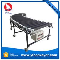 China Flexible Expandable Motorized Rubber Coated Roller Conveyor,Loading Unloading Conveyor on sale
