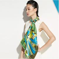 Quality OEM Unique Chiffon Plain Heat Transfer Printing Soft Ladies Neck Scarves for Warmth for sale