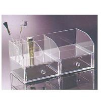 China Perspex Cosmetic Display  , Acrylic Makeup Organizer With 2 Drawer wholesale