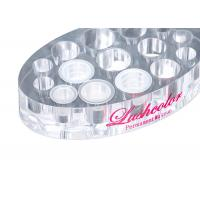 Quality Acrylic Oval Ink Cup Holder Permanent Makeup Tattoo Accessories Acrylic Material for sale